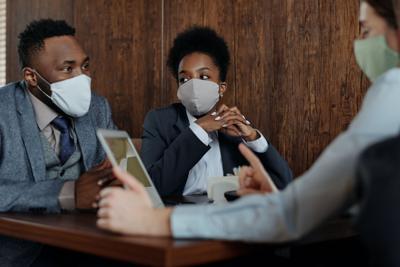 Stock masks meeting