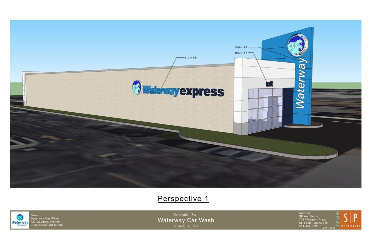 A rendering of what Waterway Express car wash