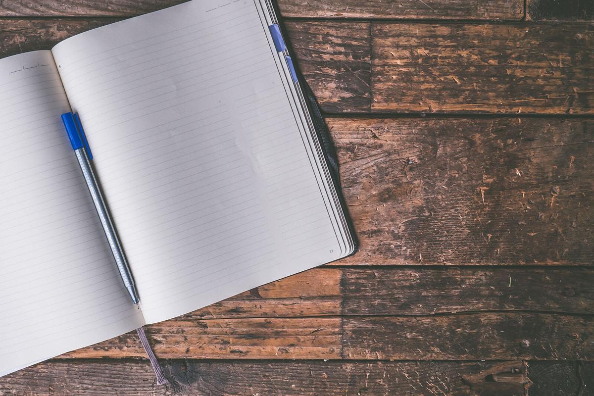 stock notebook writing