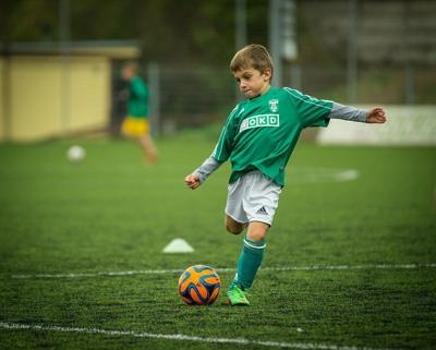 Stock kid soccer