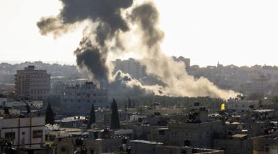 Israeli fighter planes strike Hamas military compound in northern Gaza