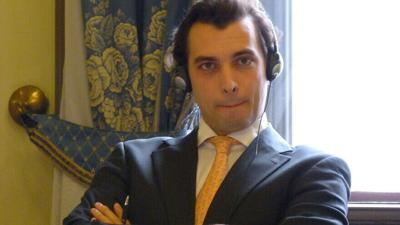 Dutch politician Thierry Baudet, leader of the Forum for Democracy Party.