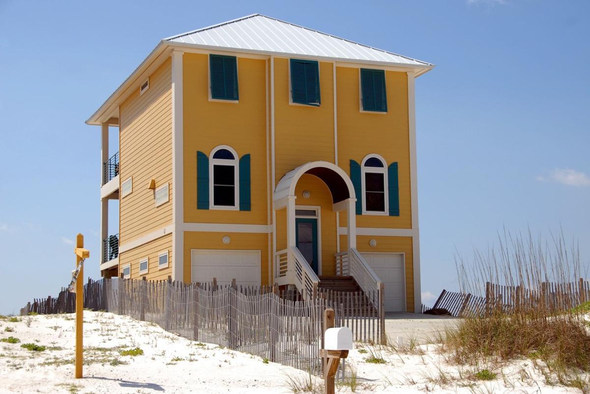 Stock real estate beach home