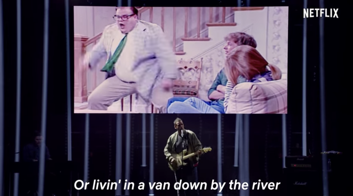 Adam Sandler gives a touching Chris Farley tribute