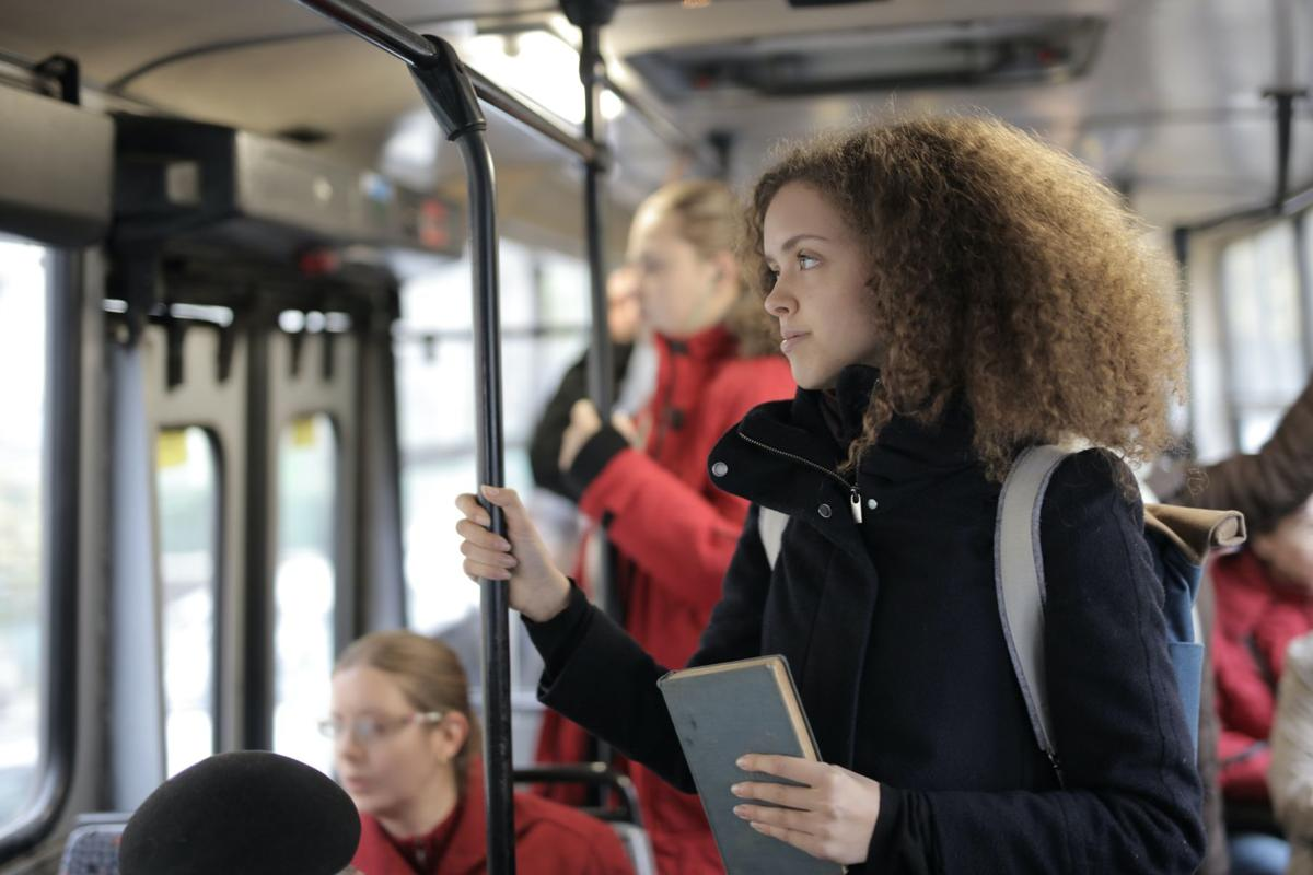 Stock woman travel education
