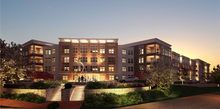 An Artist S Rendering Of The Main Entrance To Vue A Luxury Apartment Community Being Built In Beachwood Commerce Park Neighborhood