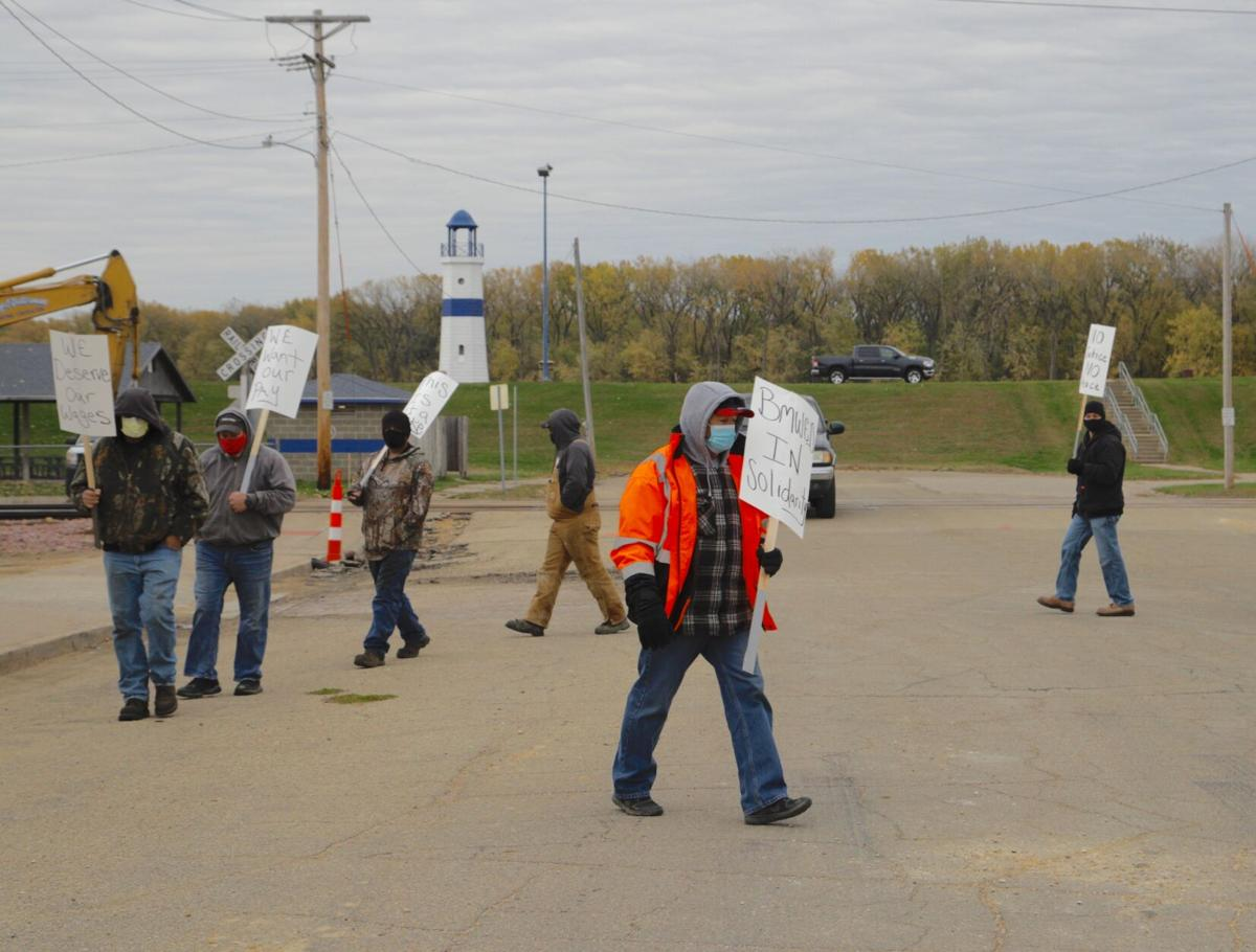 Candian Pacific picket at depot in Clinton