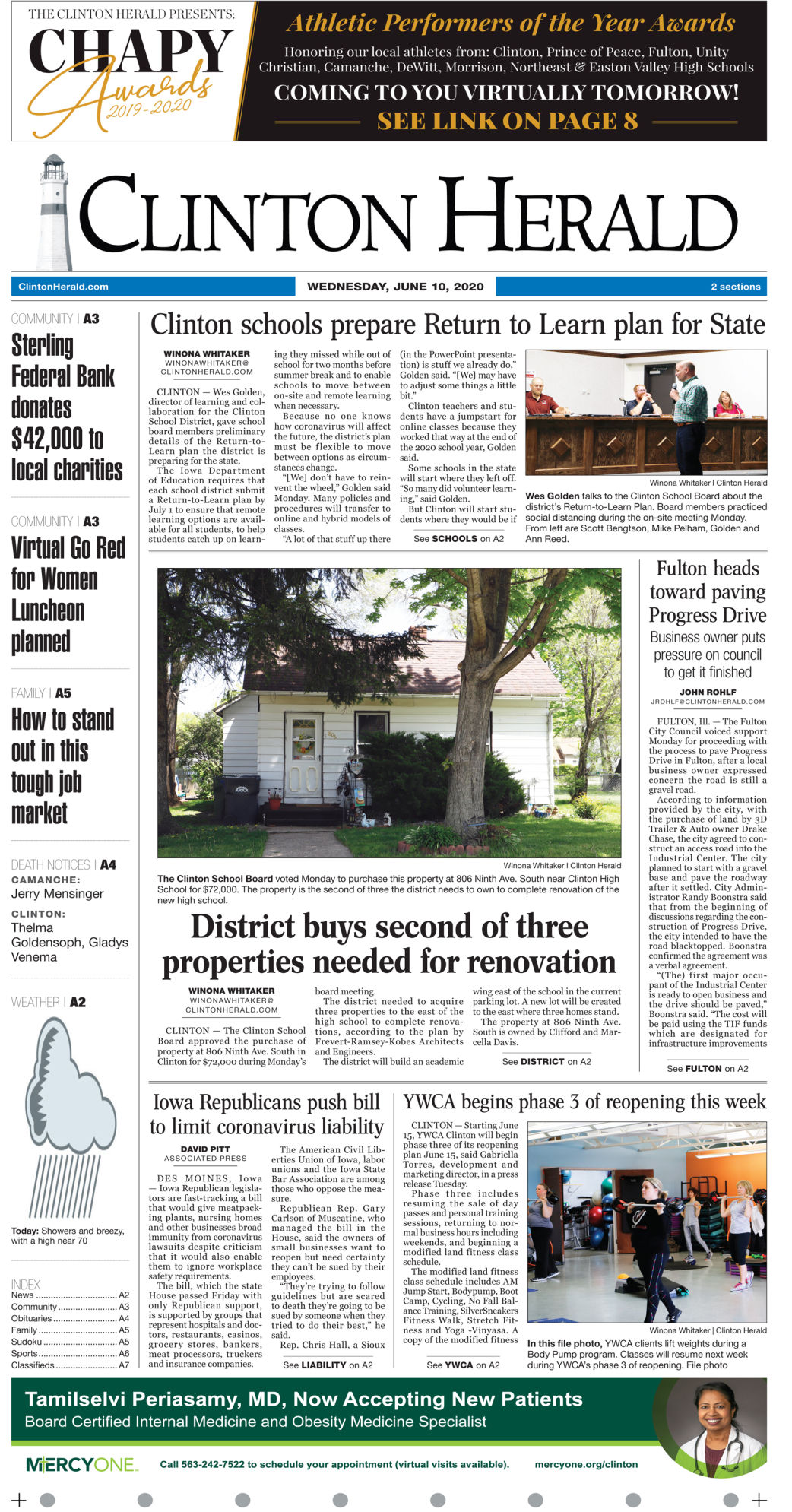 June 10  2020 Front Page