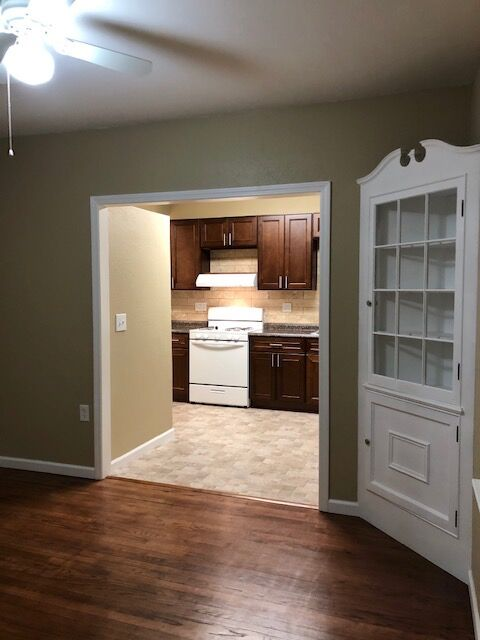 wood floors, cabinetry