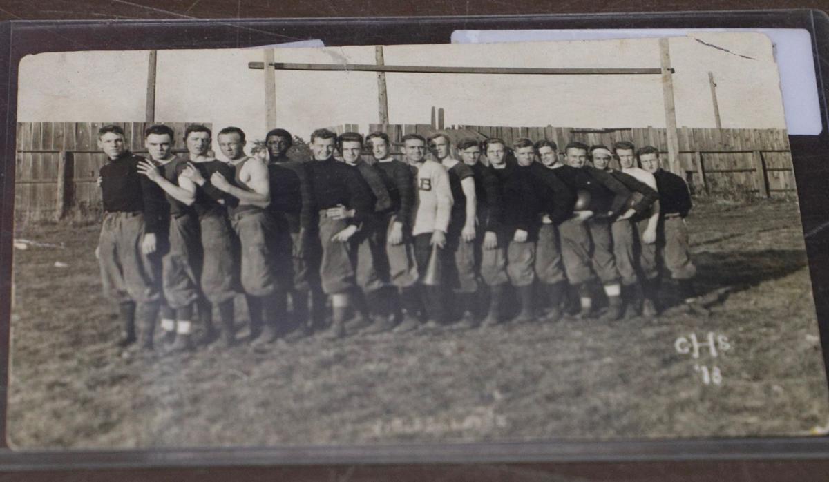 1913 photo of the Clinton High School football