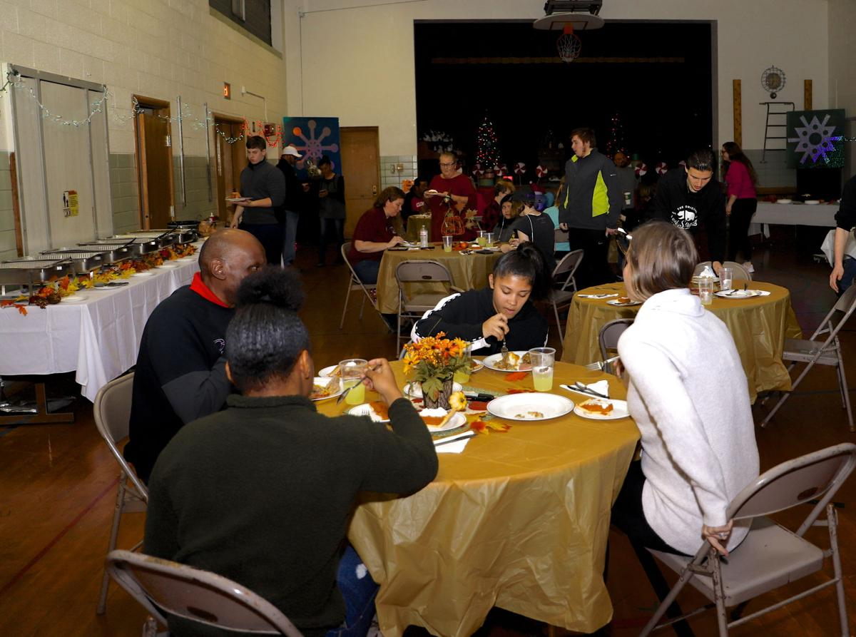 Thanksgiving meal at Gateway Learning Center