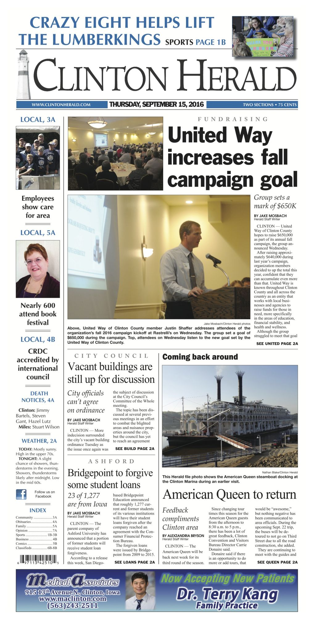 The Front Page | News | clintonherald com