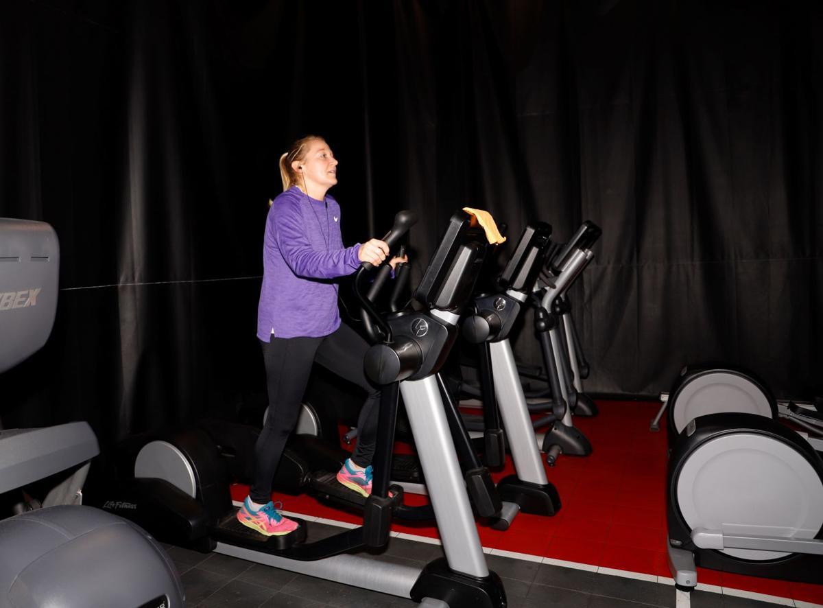April Barsema works out at YWCA