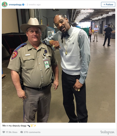 Trooper Billy Spears and rapper Snoop Dogg