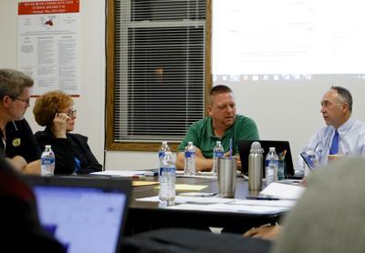 river bend school board, jane orman-luker, dan portz, superintendent darryl hogue