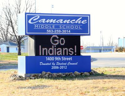 camanche middle school go indians sign