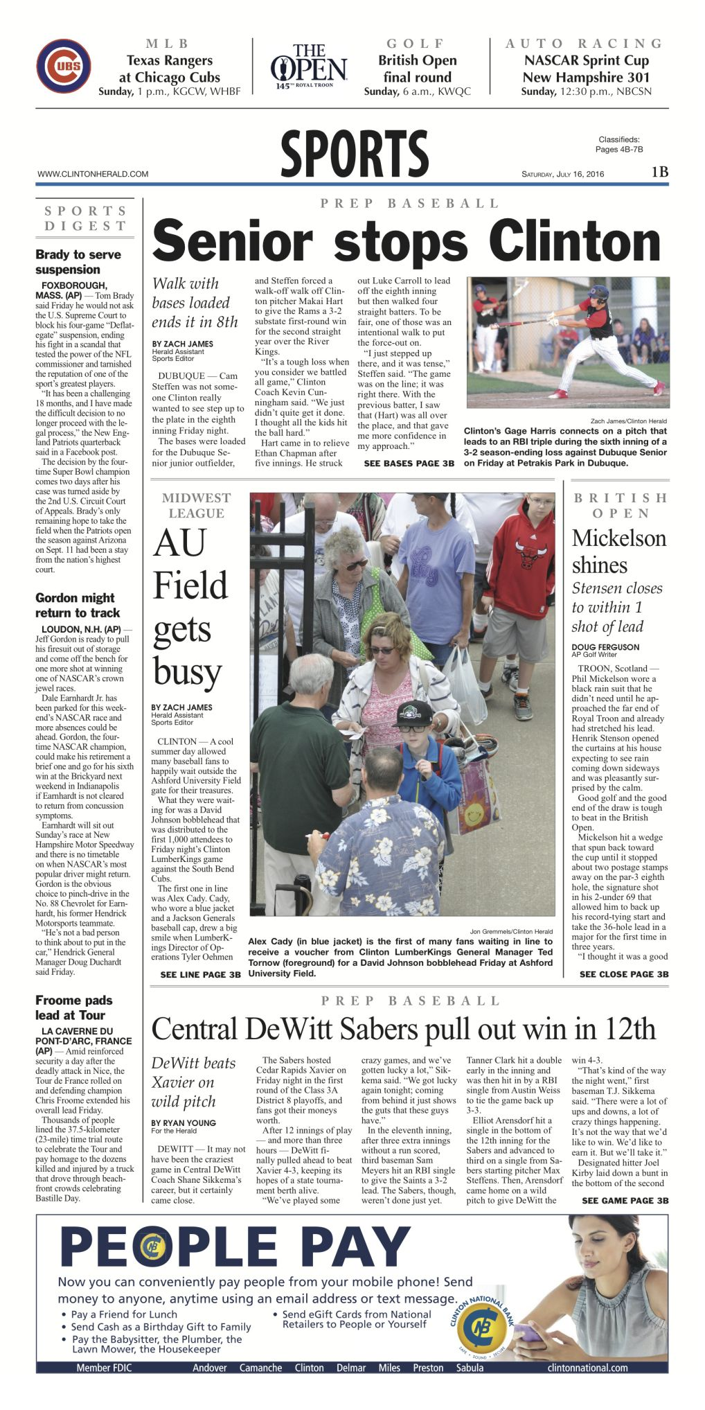 Prep baseball: Senior stops Clinton     again | Sports