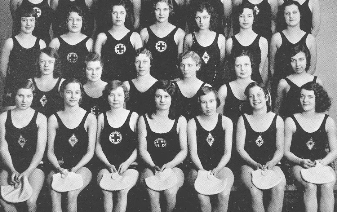 From the 1931 Clintonian, Edith Swift in middle front row, Gladys Swift second from left