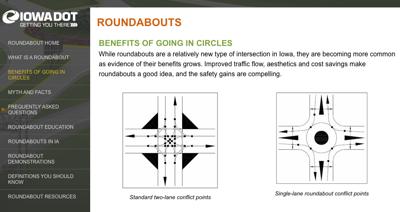 IDOT screenshot, roundabouts