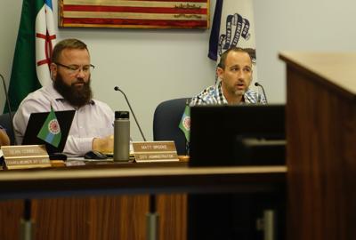 City Administrator Matt Brooke, Mayor Scott Maddasion