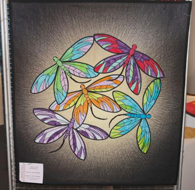 Dance of the Dragonflies quilt by Bev Peterman