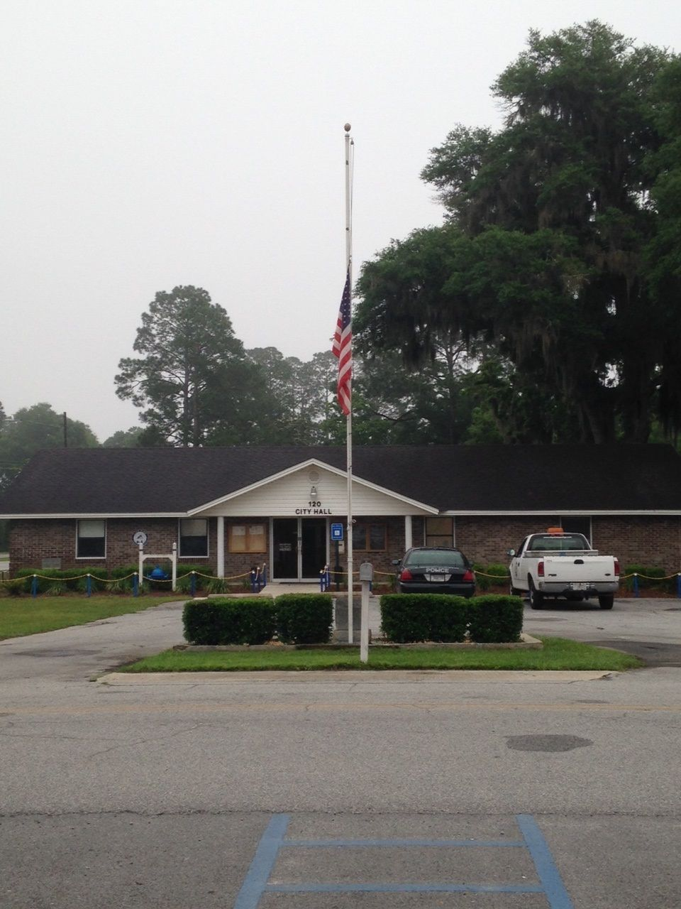 Flag flown at half-staff in protest