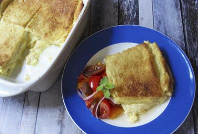 Cheese Sandwich Souffle is easy weeknight meal