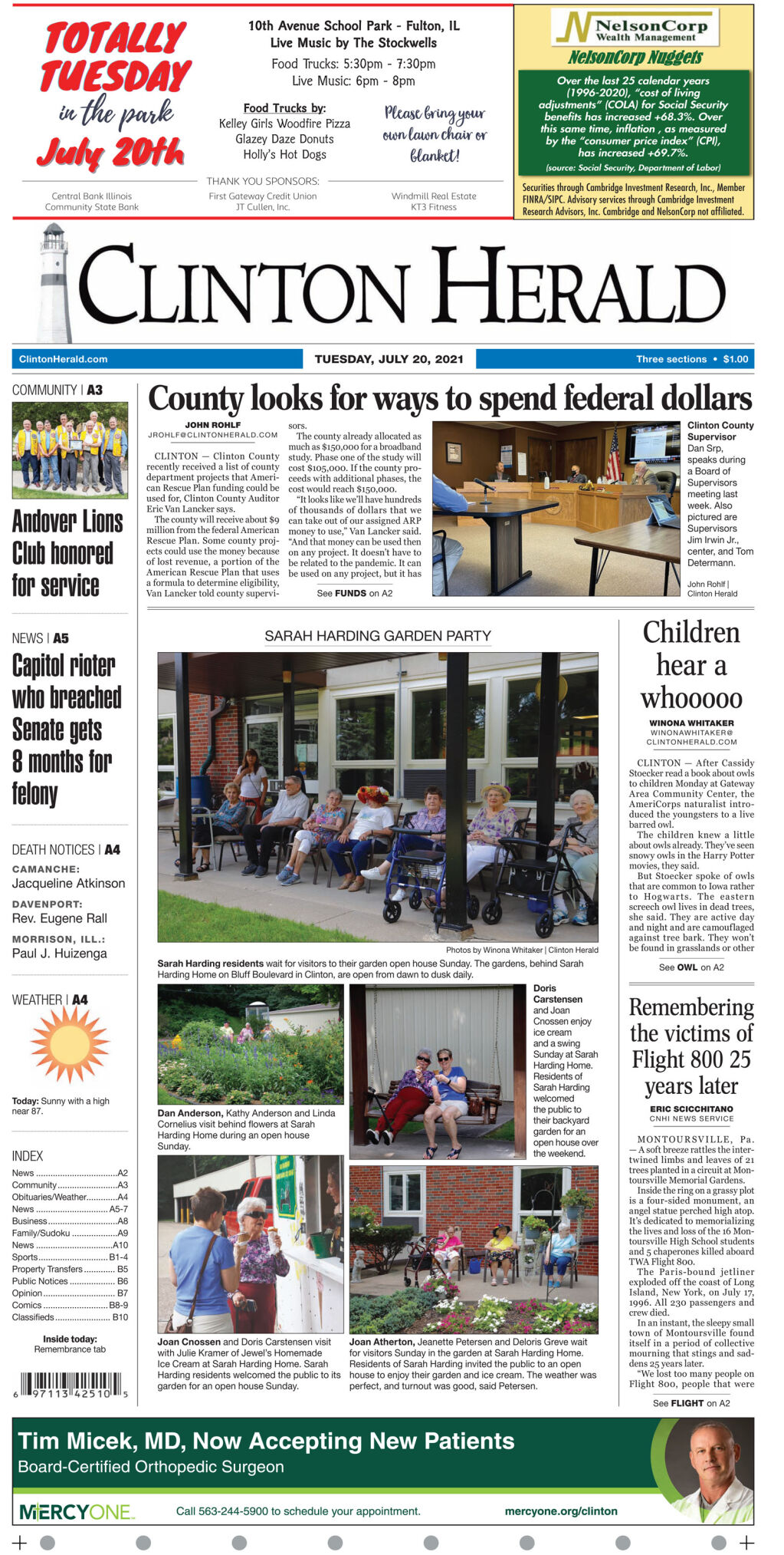 July 20, 2021 Front page