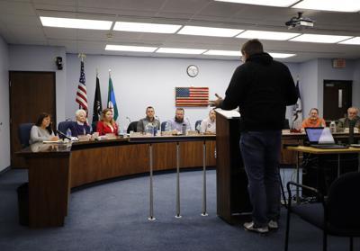 Rick Petersen addresses the Clinton City Council