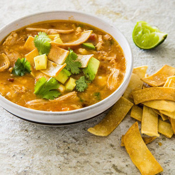 A multicooker helps make a deeply flavorful tortilla soup