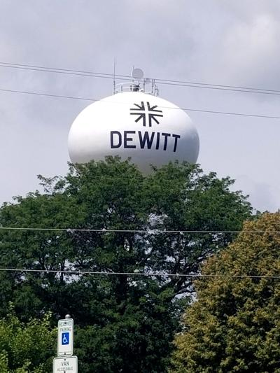 dewitt water tower stock photo
