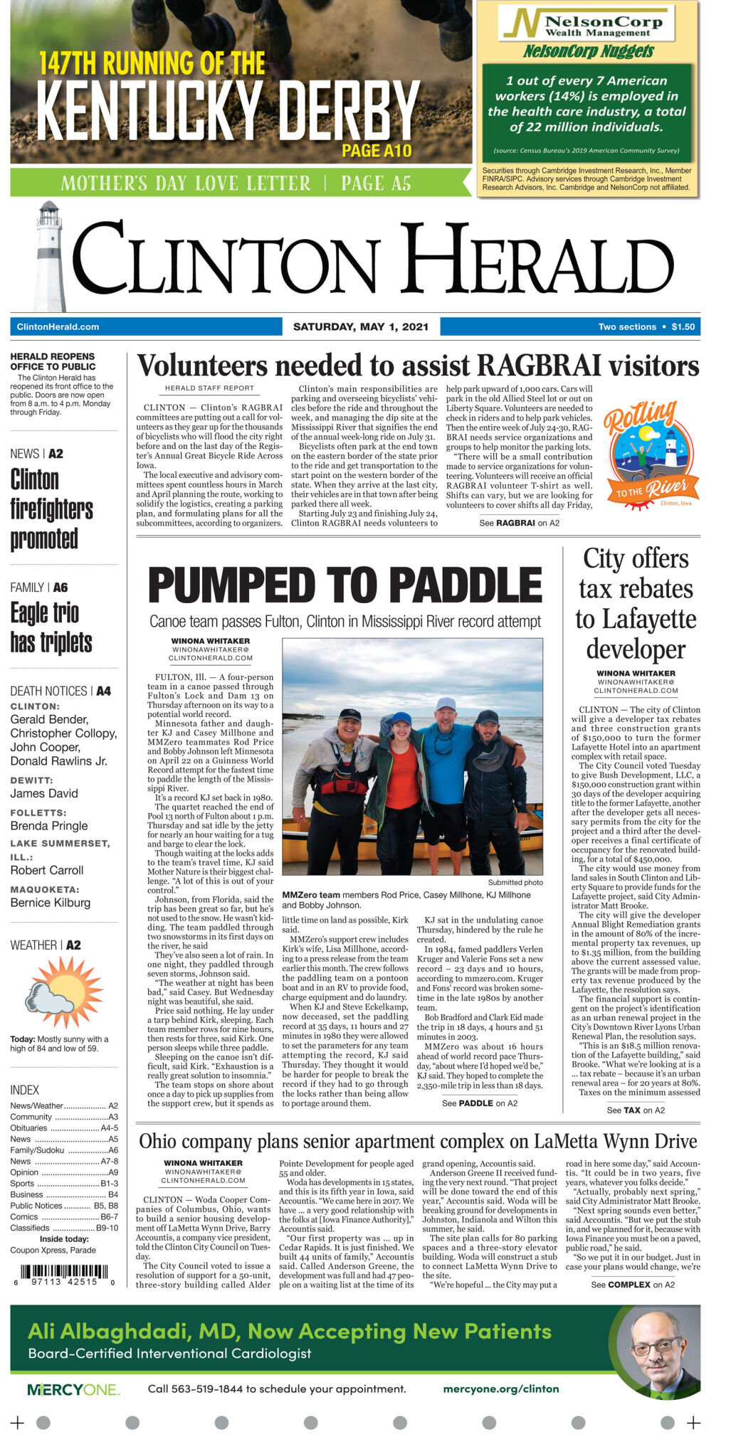 May 1, 2021 Front page