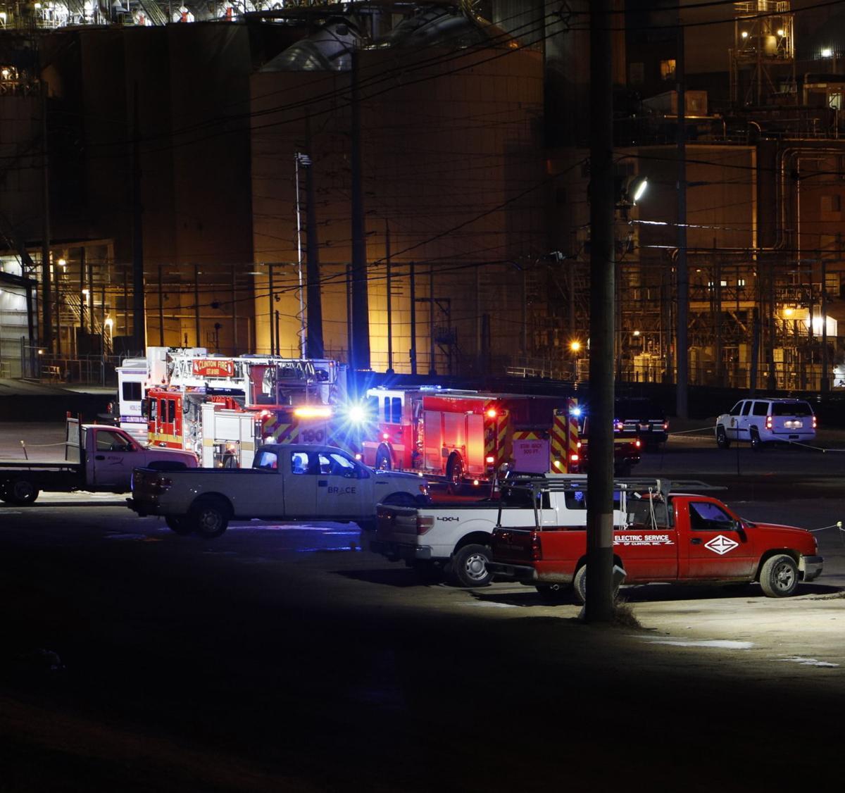 Fire trucks at ADM