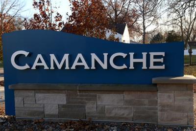 camanche sign at park