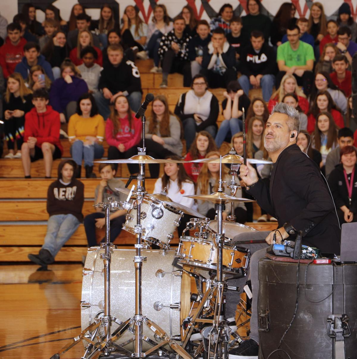 Fulton High School students, assembly with Rich Redmond