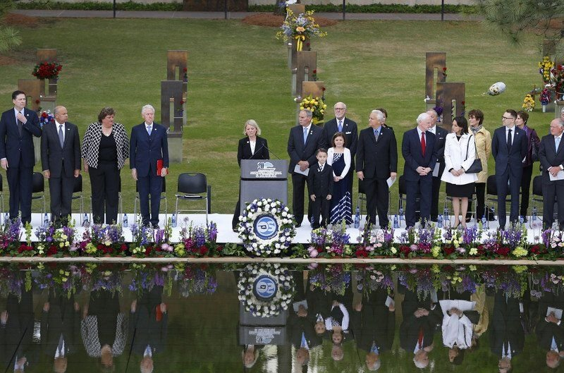 Service held to mark 20 years since Oklahoma City bombing