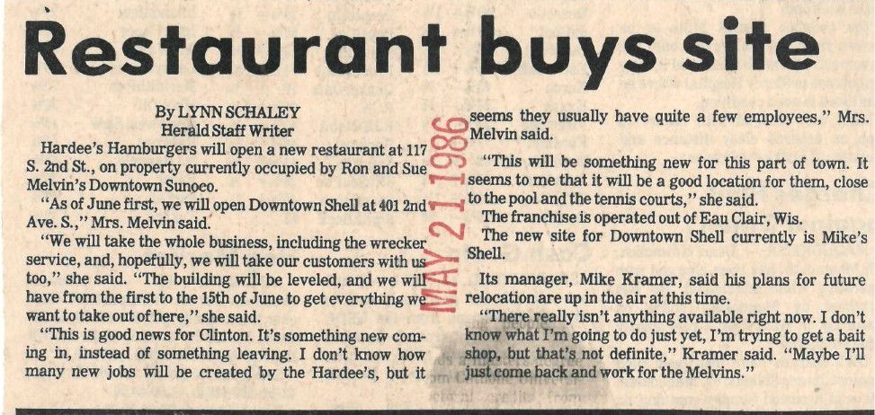 Throwback Thursday: Restaurant buys site