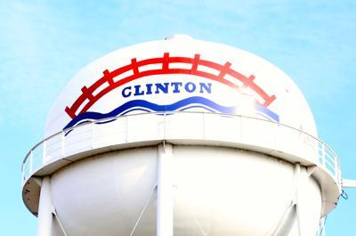 clinton watertower stock photo