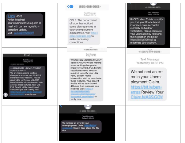 Screen Shot 2021-08-12 sample scam texts, seniors vs. crime
