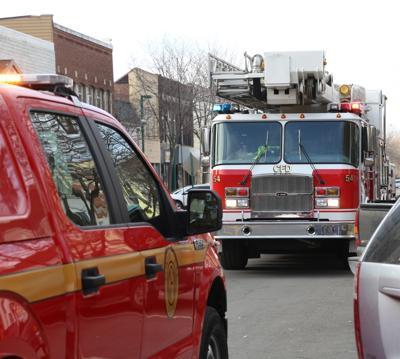 Clinton fire trucks