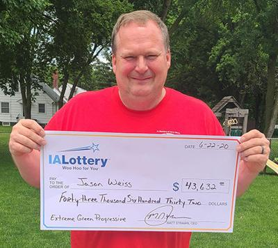 jason weiss wins $43,000 in lottery