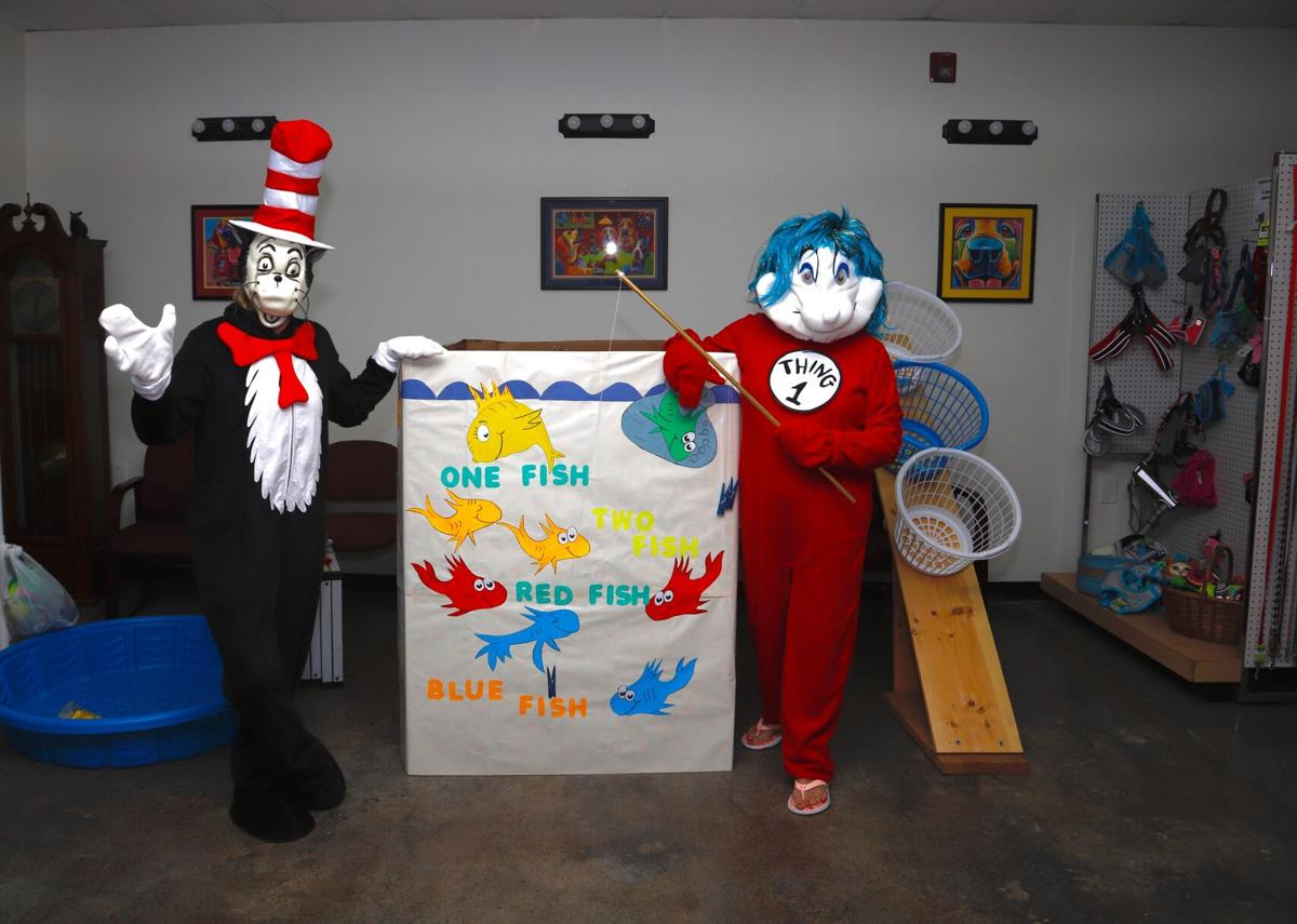 Cat in the Hat and Thing 1 at Midwest Pets for Life