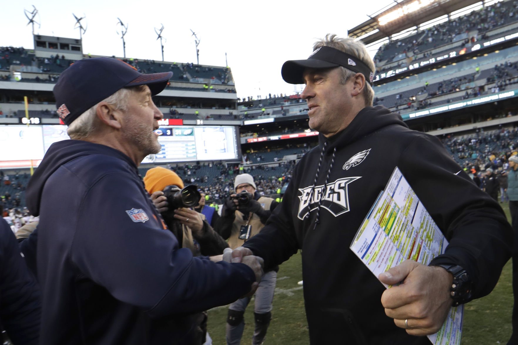 Bears Eagles Football Fox not worried about