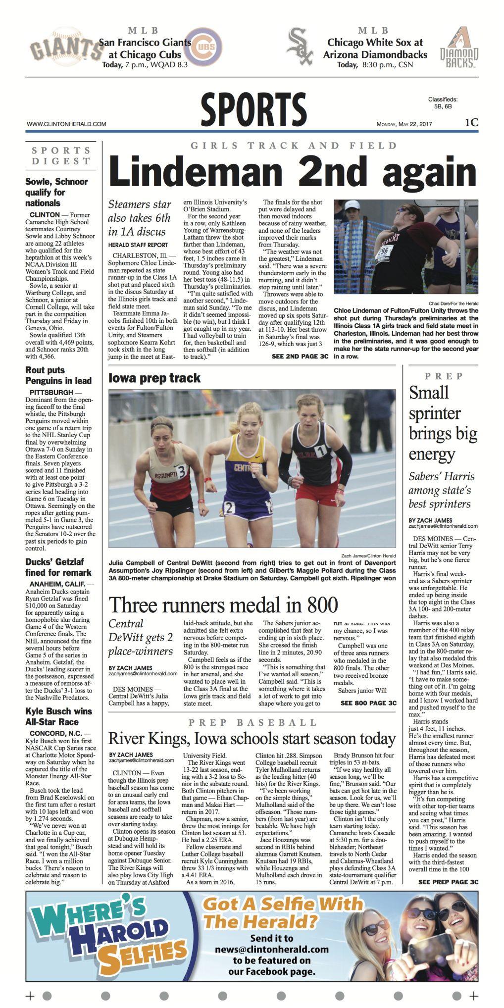 Iowa prep track: Three runners medal in 800 | Sports