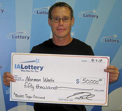 Clinton man scratches off $50K prize