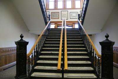 Clinton County courthouse stairs