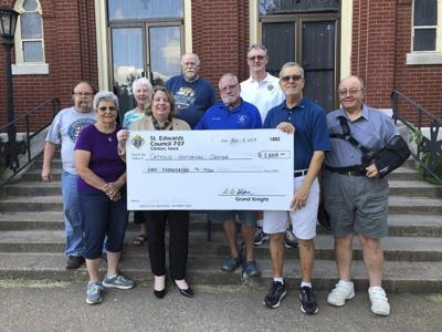 Knights donate money to Catholic Historical Center