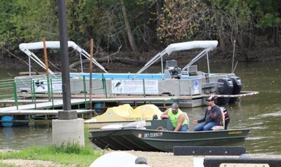 docked at rock creek marina, catfish classic