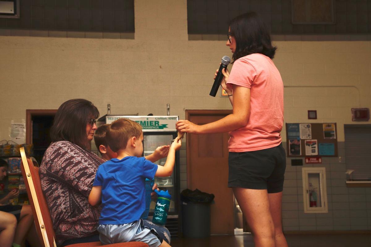 Cassidy Stoecker shows owl talons
