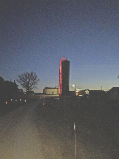 Silo turns red for firefighters